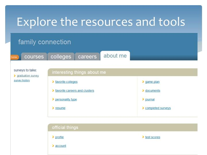 Explore the resources and tools