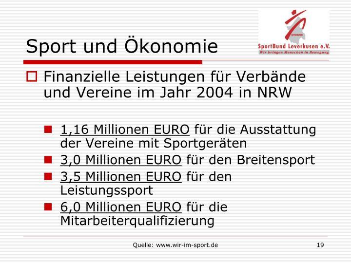 Sport und Ökonomie