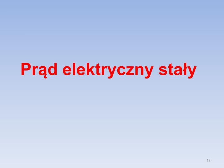 Prąd elektryczny stały