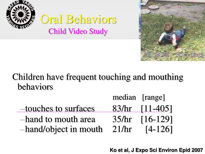 Oral Behaviors