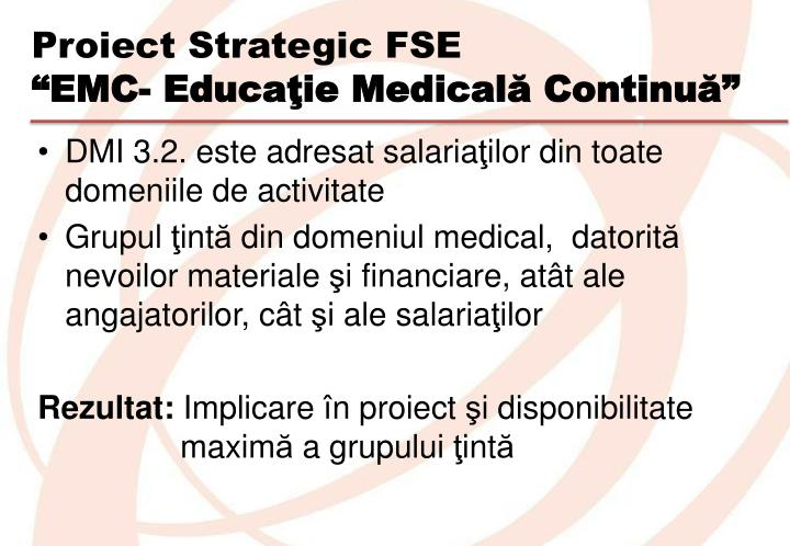 Proiect Strategic FSE