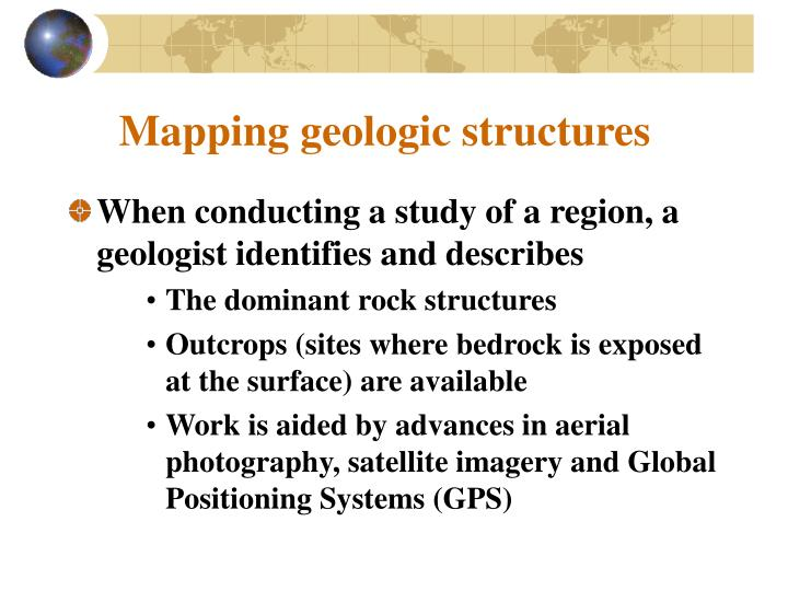 Mapping geologic structures