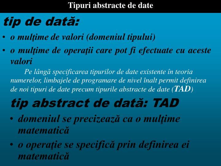 Tipuri abstracte de date
