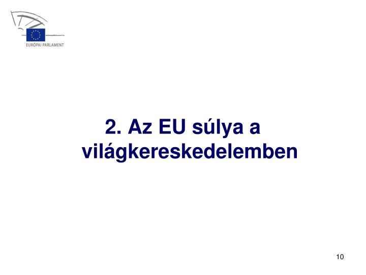 2. Az EU súlya a világkereskedelemben
