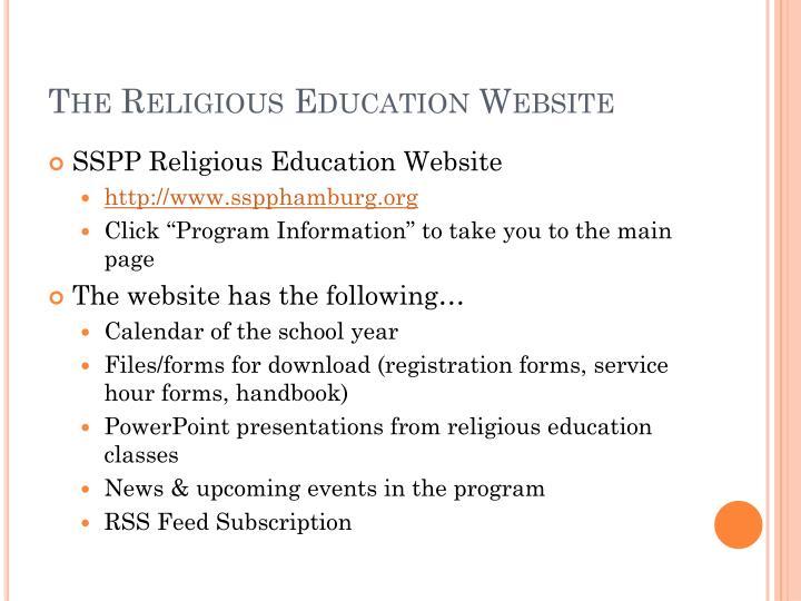 The Religious Education Website