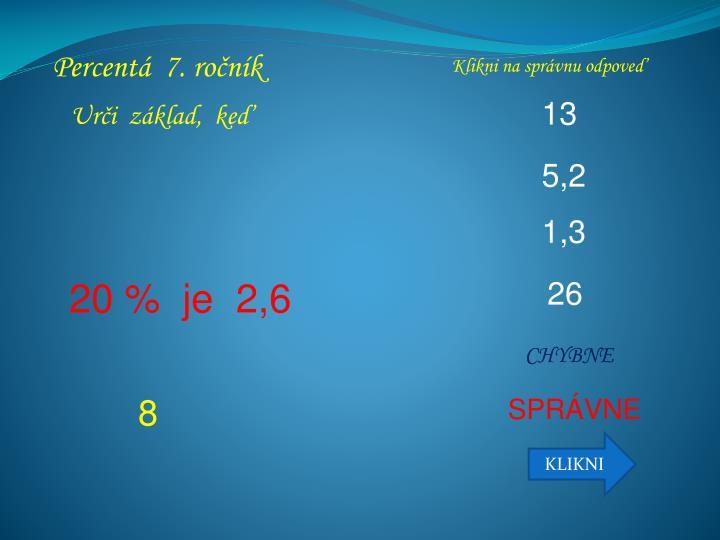Percentá  7. ročník