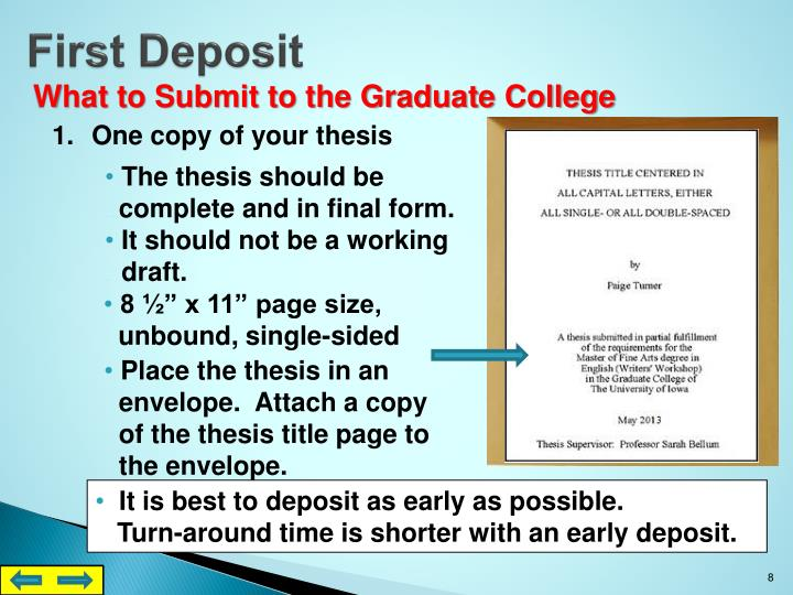 First Deposit