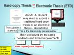 hard copy thesis