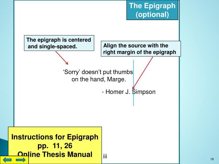 The Epigraph