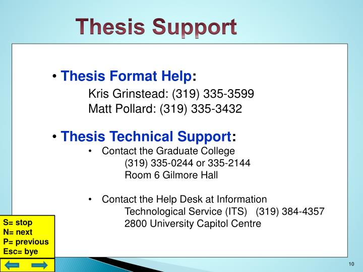 Thesis Support