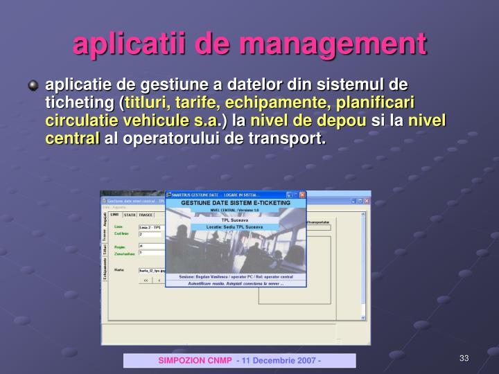 aplicatii de management