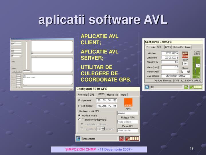 aplicatii software AVL