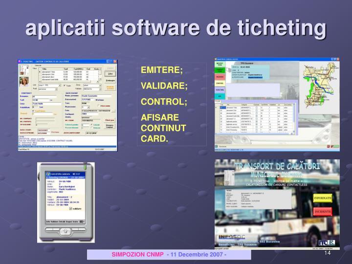 aplicatii software de ticheting