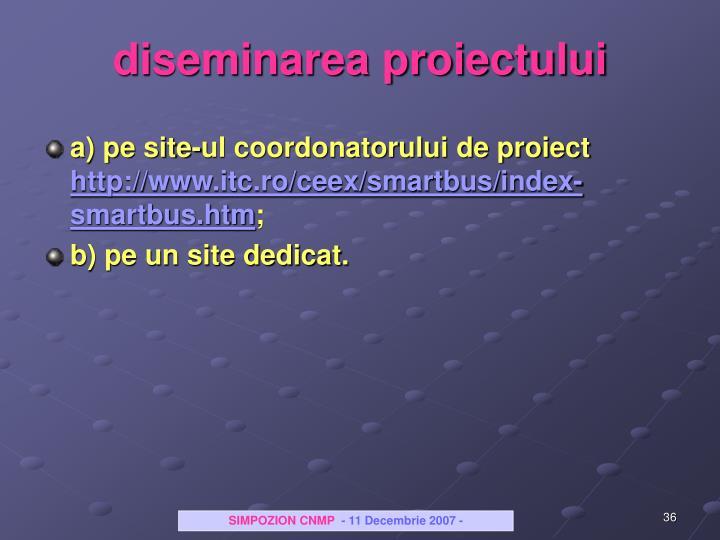 diseminarea proiectului