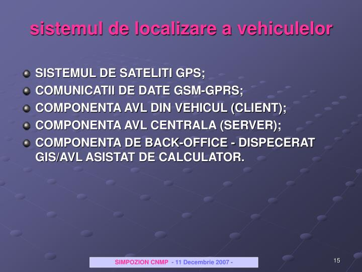 sistemul de localizare a vehiculelor