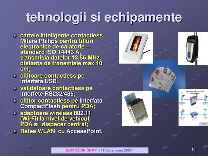 tehnologii si echipamente