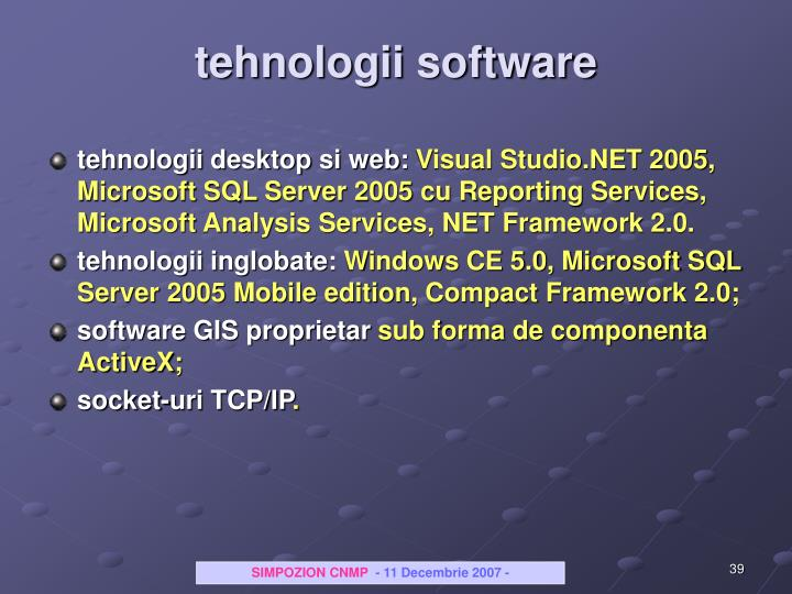 tehnologii software
