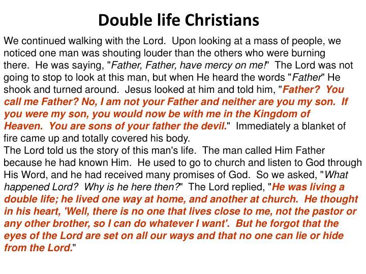 Double life Christians
