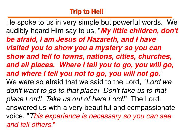 Trip to Hell