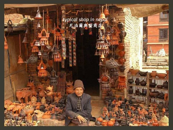 typical shop in nepal