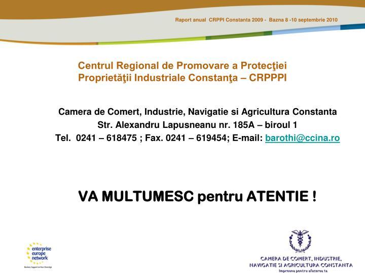 Centrul Regional de Promovare a Protecţiei