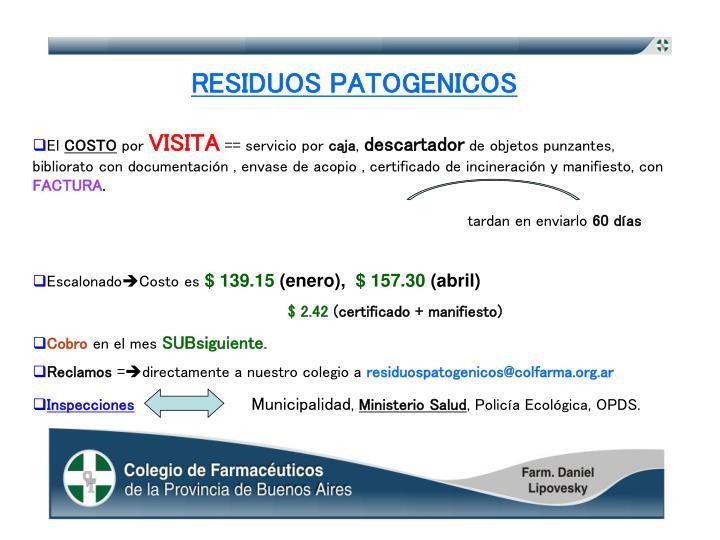 RESIDUOS PATOGENICOS