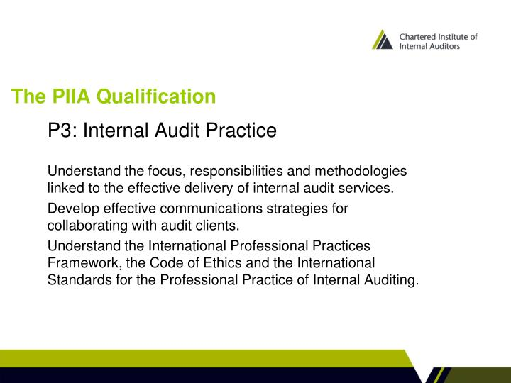 The piia qualification2