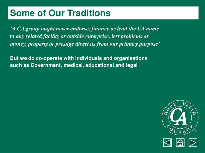Some of Our Traditions