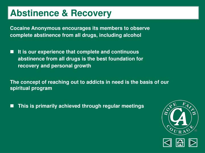 Abstinence & Recovery