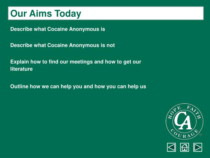 Our Aims Today
