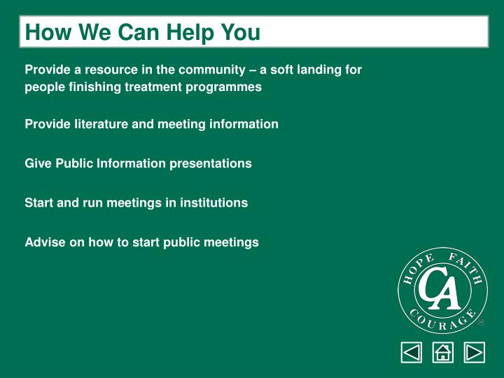How We Can Help You
