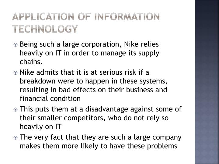 Application of Information Technology