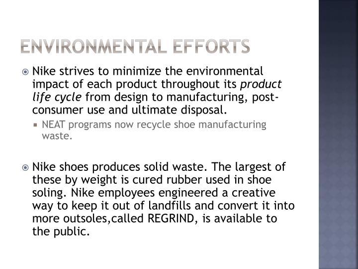 Environmental Efforts