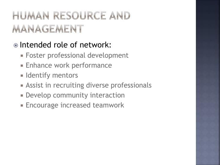 Human Resource and Management