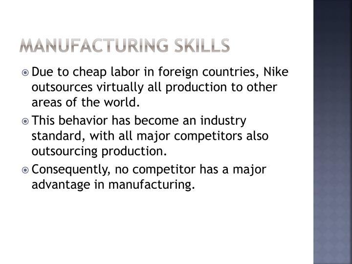 Manufacturing Skills
