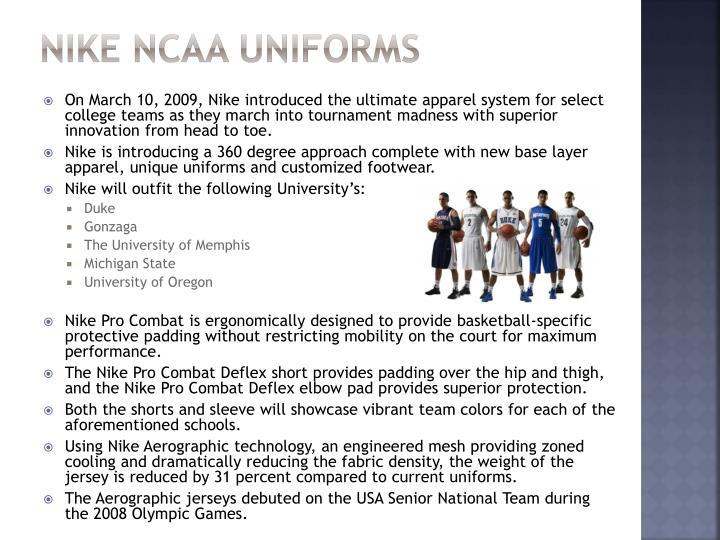 Nike Ncaa uniforms