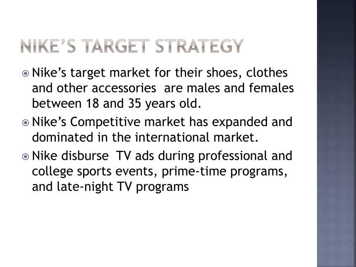 Nike's Target Strategy