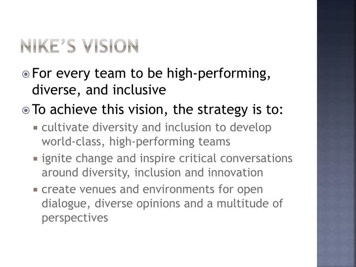 Nike's Vision