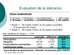 evaluation de la tol rance