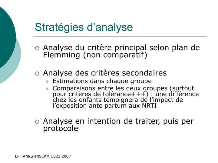 Stratégies d'analyse