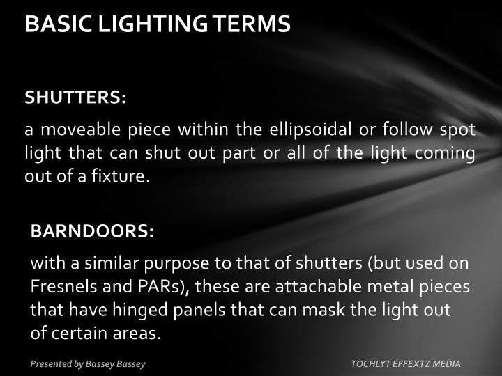 Basic lighting terms
