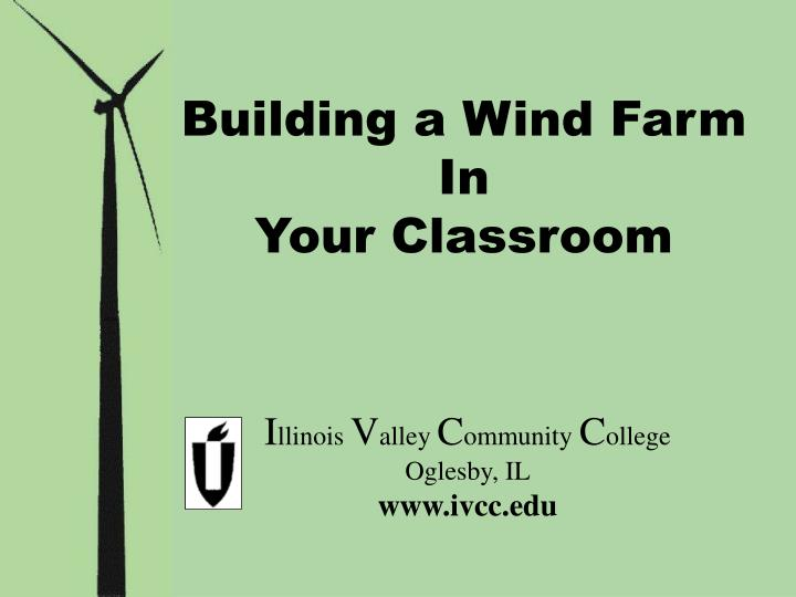 Building a Wind Farm