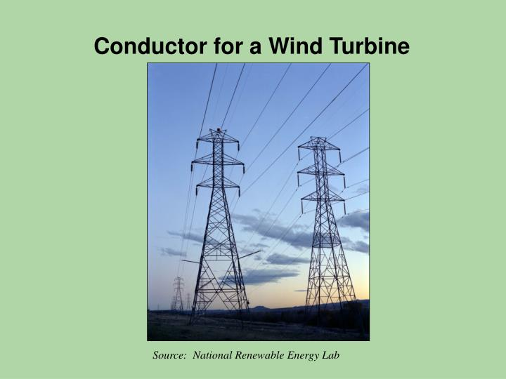 Conductor for a Wind Turbine