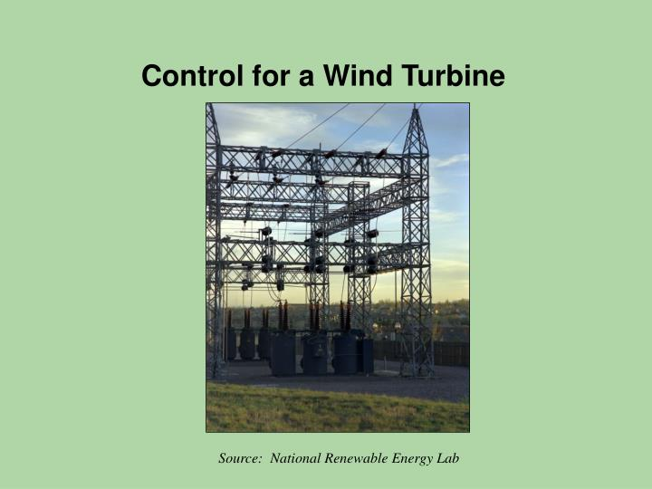 Control for a Wind Turbine