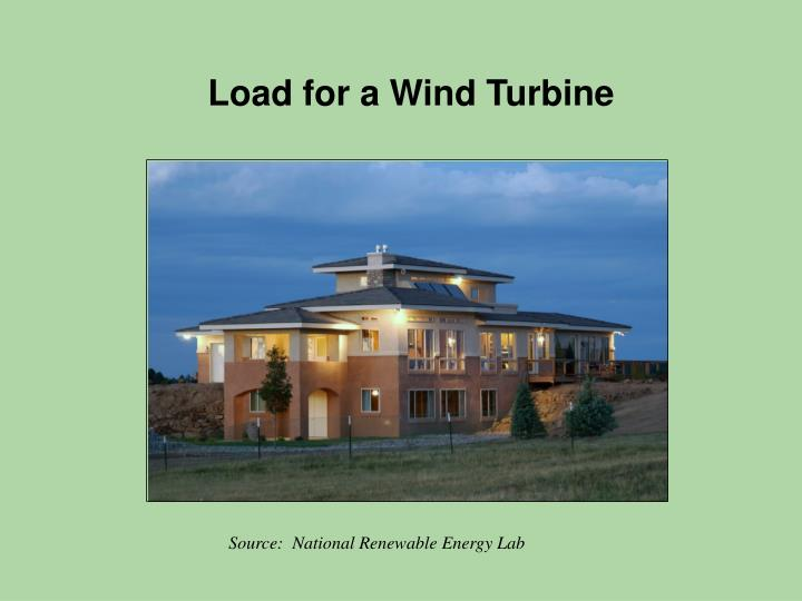 Load for a Wind Turbine