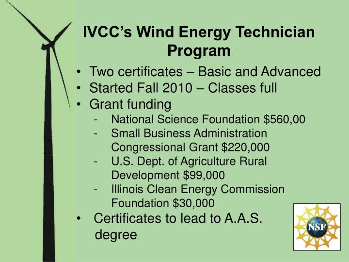 IVCC's Wind Energy Technician Program