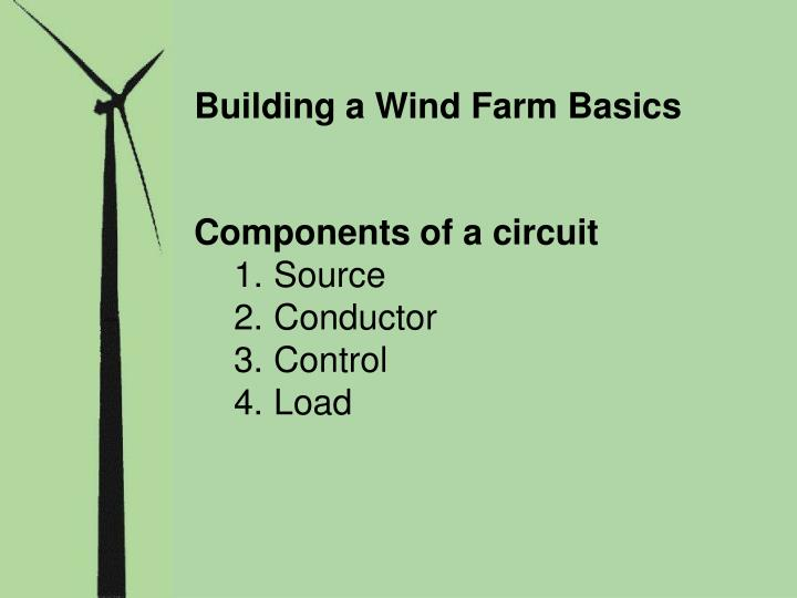 Building a Wind Farm Basics