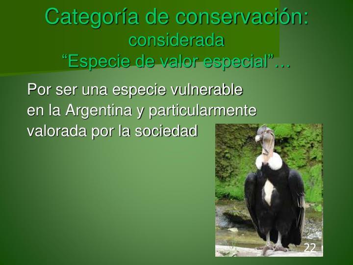 Categoría de conservación: