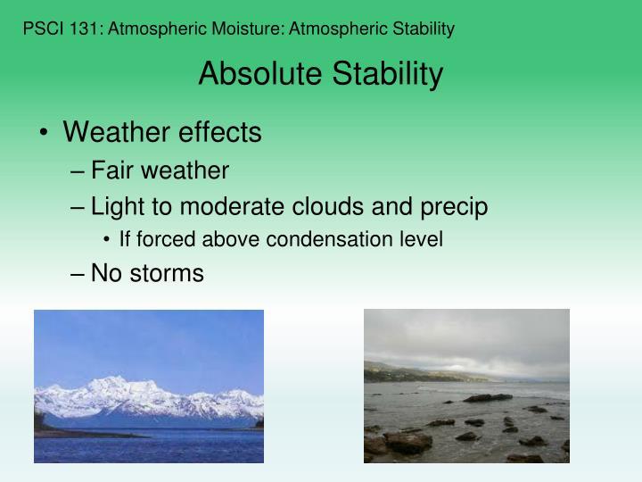 PSCI 131: Atmospheric Moisture: Atmospheric Stability