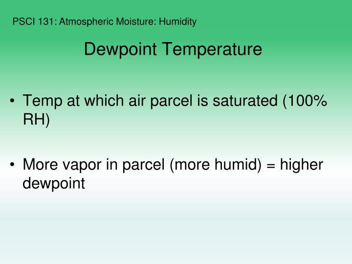 Dewpoint Temperature